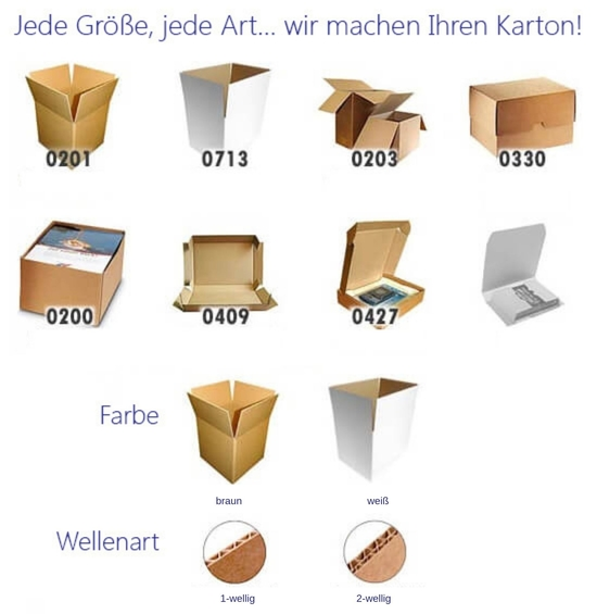 Sizes Styles and Colours of Davpack Cardboard Boxes